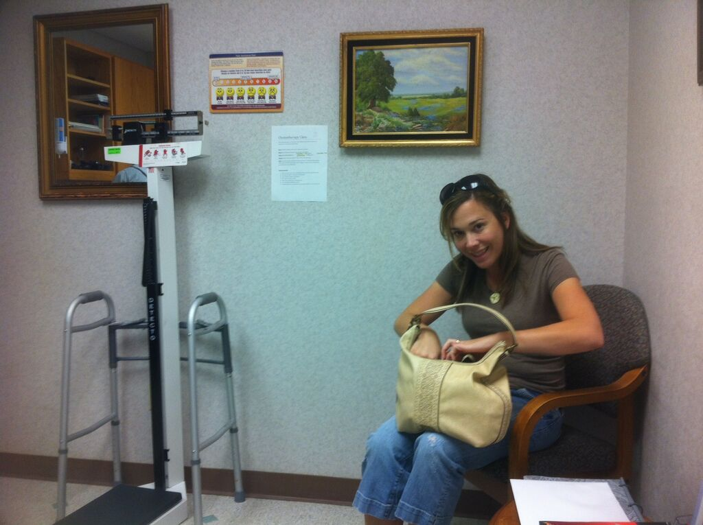Jenny at Dr. Reeves's office today (Oct. 3)