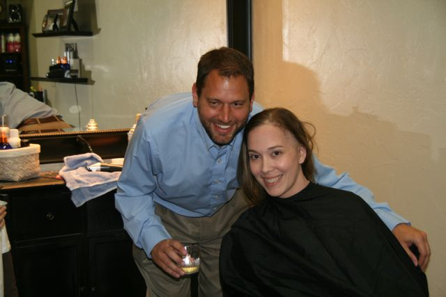 Shave Party: Alan and Jenny Before