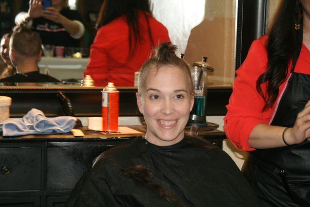 Shave Party: Jenny Mohawk