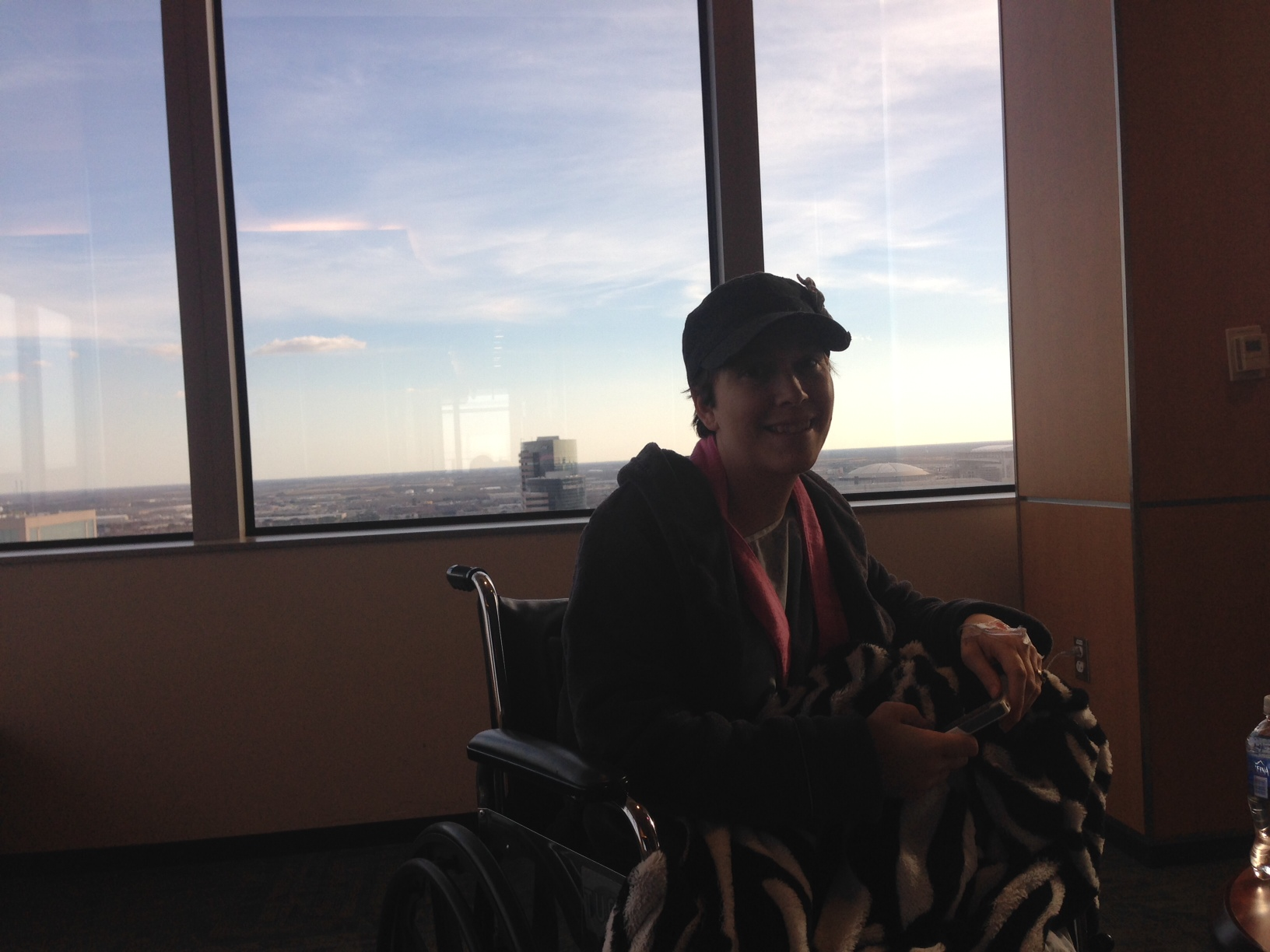 Jenny on the 24th floor at MD Anderson