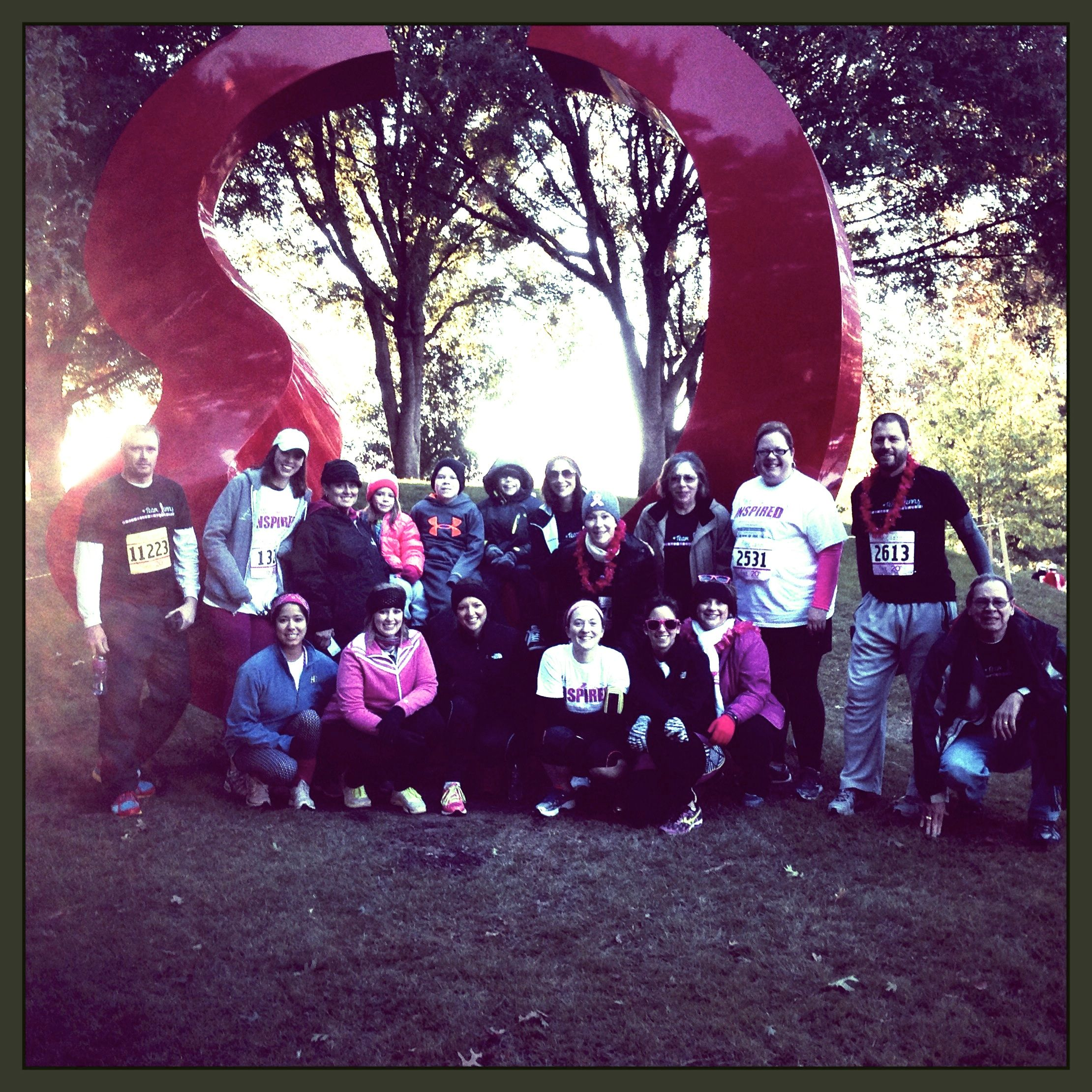2013 Komen Run - lots of great love and support