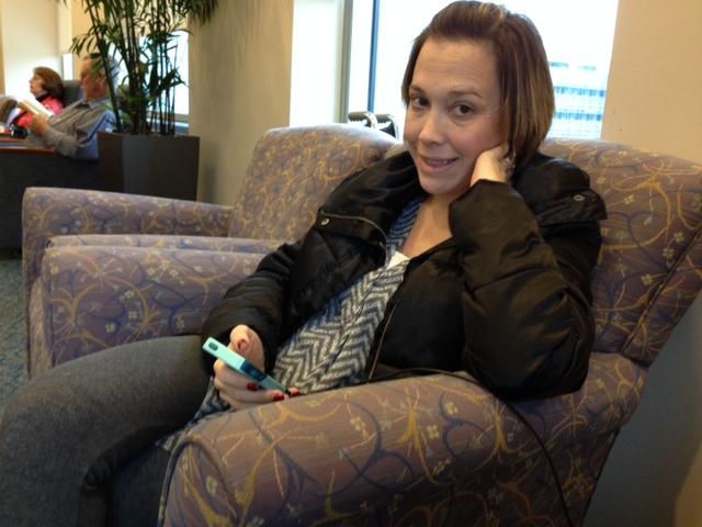 Waiting at the Mays Clinic.